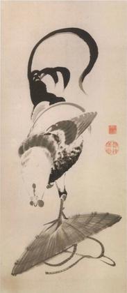 笠に鶏.jpg